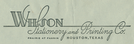 Wilson Stationary and Printing Co.